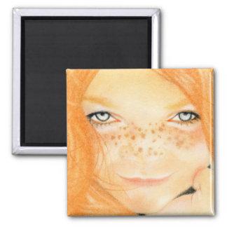 Irish freckles girl Magnet