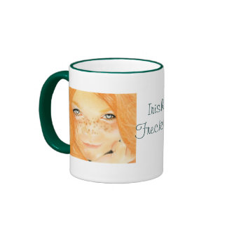 Irish freckles girl Mug
