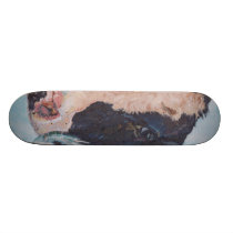 Irish Friesian Cow Skateboard
