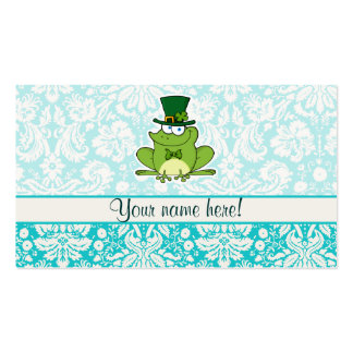 Irish Frog; Cute Business Card