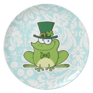 Irish Frog; Cute Dinner Plate