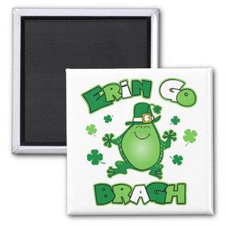 Irish Frog Erin Go Bragh Magnet