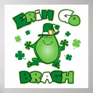 Irish Frog Erin Go Bragh Print
