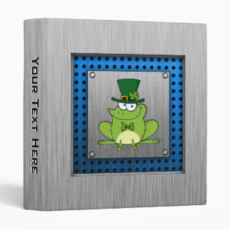 Irish Frog; Metal-look Binders