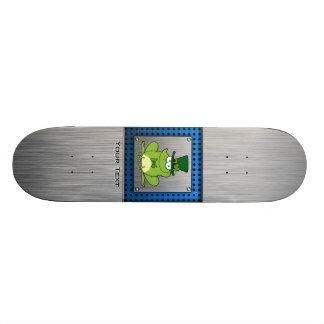 Irish Frog; Metal-look Skate Board Deck