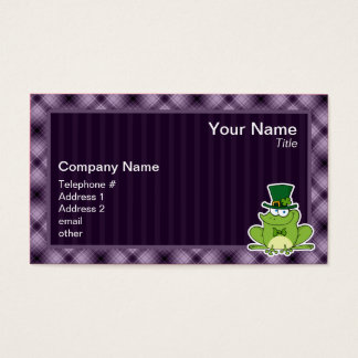 Irish Frog; Purple Business Card