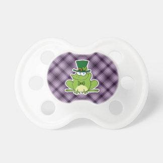 Irish Frog Purple Baby Pacifiers