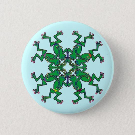 Irish frogs sychronised swim team pinback button