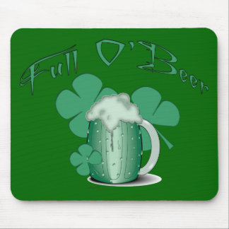Irish Full O Beer Mouse Pad