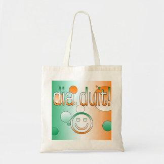 Irish Gaelic Gifts Hello / Dia Duit + Smiley Face Bags