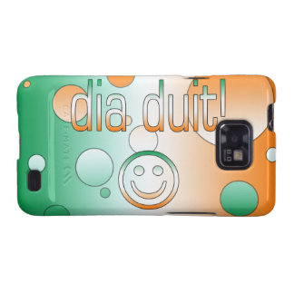 Irish Gaelic Gifts Hello / Dia Duit + Smiley Face Samsung Galaxy SII Cover