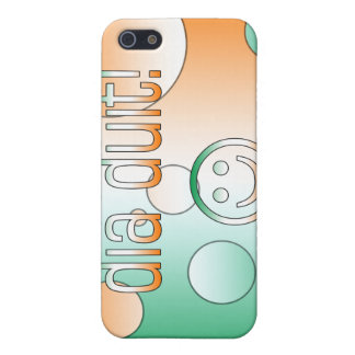 Irish Gaelic Gifts Hello / Dia Duit + Smiley Face Cover For iPhone 5