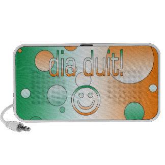 Irish Gaelic Gifts Hello / Dia Duit + Smiley Face iPod Speakers