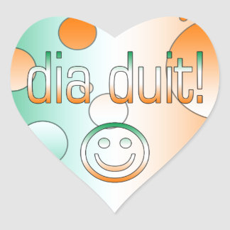 Irish Gaelic Gifts Hello / Dia Duit + Smiley Face Sticker