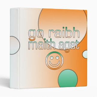 Irish Gaelic Gifts Thank You / Go Raibh Maith Agat Binder