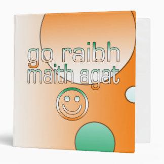 Irish Gaelic Gifts Thank You / Go Raibh Maith Agat 3 Ring Binders