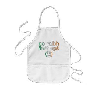 Irish Gaelic Gifts Thank You / Go Raibh Maith Agat Kids' Apron
