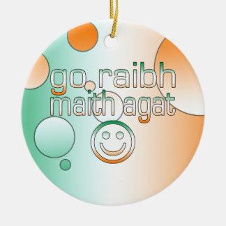 Irish Gaelic Gifts Thank You / Go Raibh Maith Agat Christmas Tree Ornament