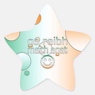 Irish Gaelic Gifts Thank You / Go Raibh Maith Agat Star Sticker