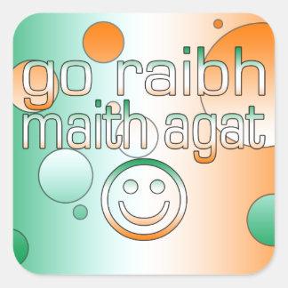 Irish Gaelic Gifts Thank You / Go Raibh Maith Agat Sticker