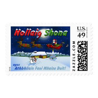 Irish Gaelic Merry Christmas Nollaig Shona Postage