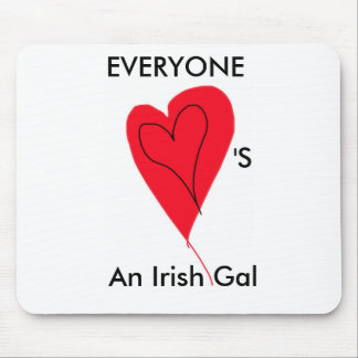 Irish Gal Heart Product Mouse Pad