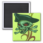 Irish Gambling Pirate Fridge Magnet