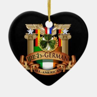 Irish German All-American Ceramic Ornament