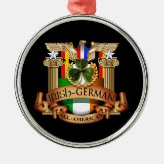 Irish German All-American Metal Ornament