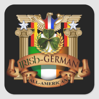 Irish German All-American Square Sticker