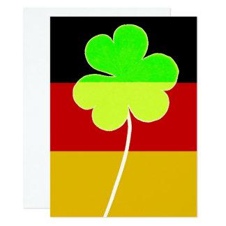 Irish German Flag Shamrock Clover St. Patrick Fun Card