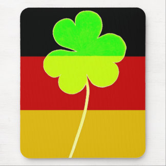 Irish German Flag Shamrock Clover St. Patrick Fun Mouse Pad