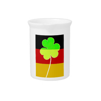 Irish German Flag Shamrock Clover St. Patrick Fun Pitcher