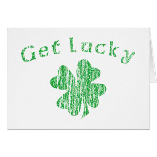 Irish Get Lucky Card