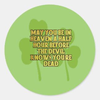 Irish Gifts Classic Round Sticker