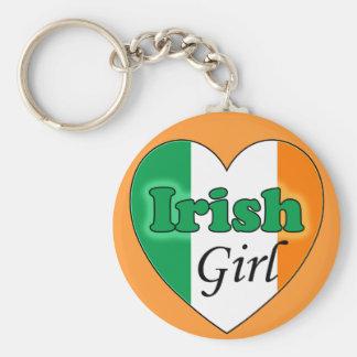 Irish Girl Basic Round Button Keychain