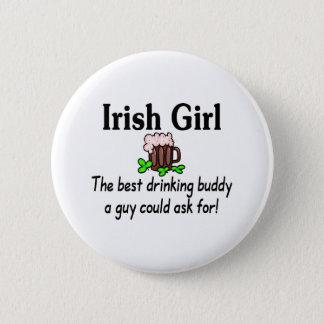 Irish Girl Best Drinking Buddy 2 Button