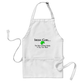Irish Girl Best Drinking Buddy A Guy Can Have Adult Apron