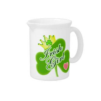Irish Girl Beverage Pitcher