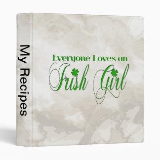 Irish Girl 3 Ring Binders