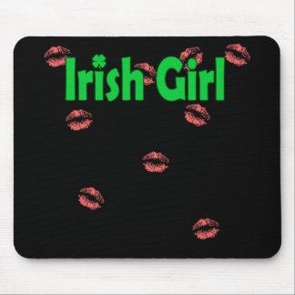 Irish Girl Black Mouse Pad