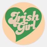 Irish Girl Classic Round Sticker