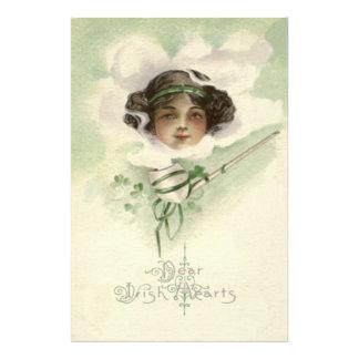 Irish Girl Clay Pipe Smoke Shamrock Photo Print