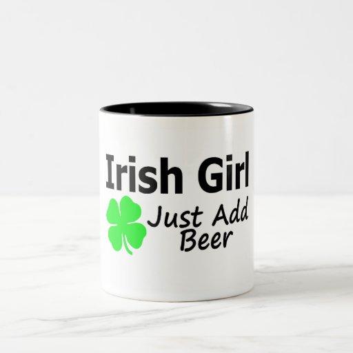 Irish Girl Just Add Beer Coffee Mugs