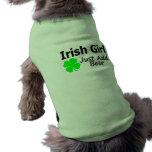 Irish Girl Just Add Beer Doggie Tee Shirt