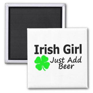 Irish Girl Just Add Beer Refrigerator Magnets