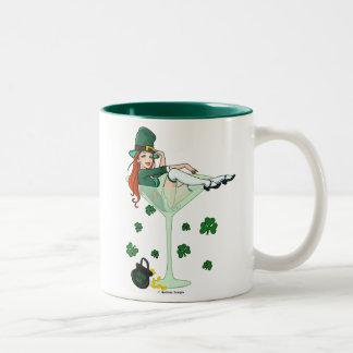 Irish Girl Martini Two-Tone Coffee Mug