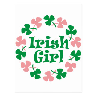 Irish girl postcard