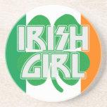 Irish Girl Shamrock Flag Coaster