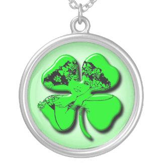 Irish Girl Shamrock Custom Jewelry